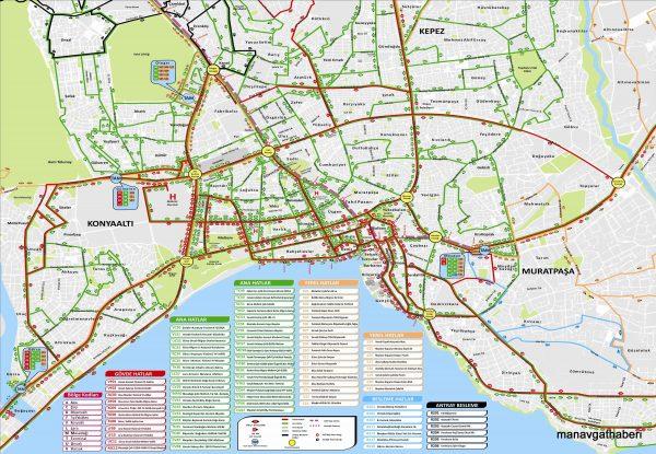 Карта общественного транспорта