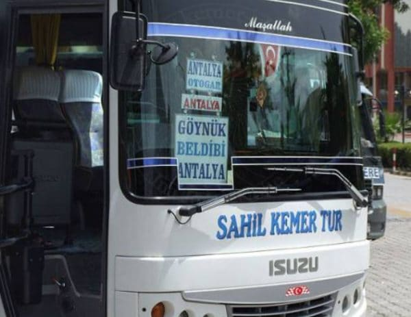 Автобус Анталия Бельдиби