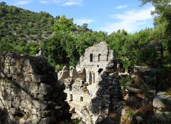 Руины, города Олимпос