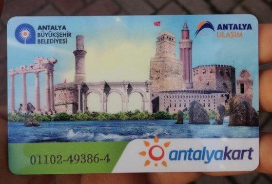 Оплата проезда с помощью AntalyaKard