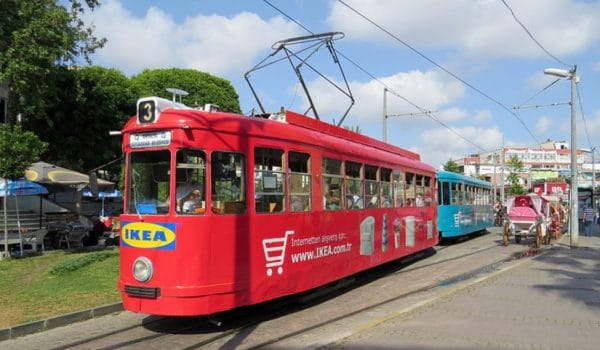 Старый трамвай в Анталии