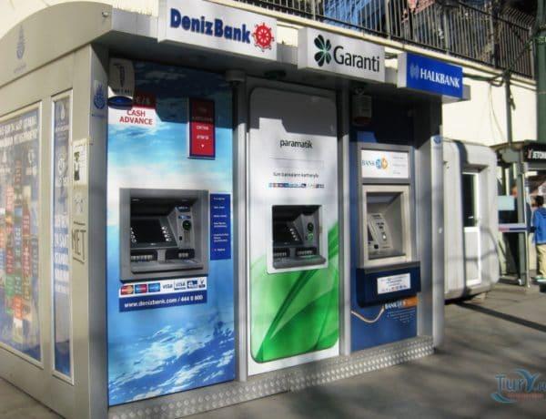 Снятие наличных лир с карты в банкоматах
