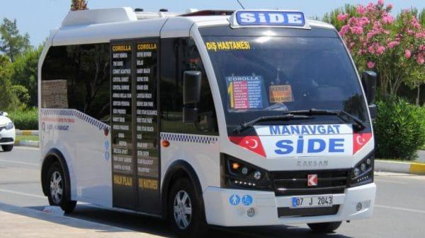 Поездки на небольшие расстояния (от крупных городов до деревень/мелких населенных пунктов) обычно осуществляются на небольших автобусах