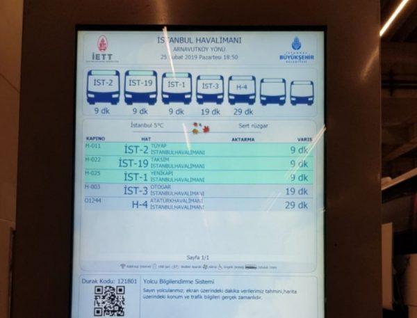 Онлайн табло автобусных маршрутов
