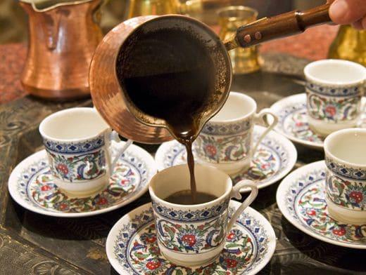 Кофе по-турецки с коньяком