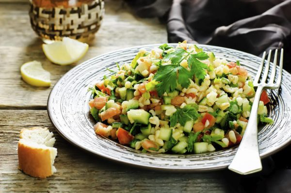 Постный салат с булгуром