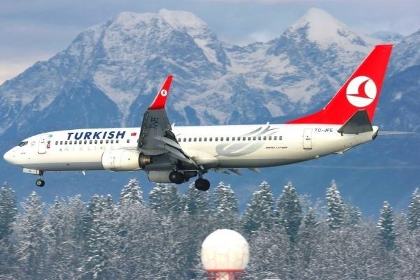 Самолет Стамбул — Анталия