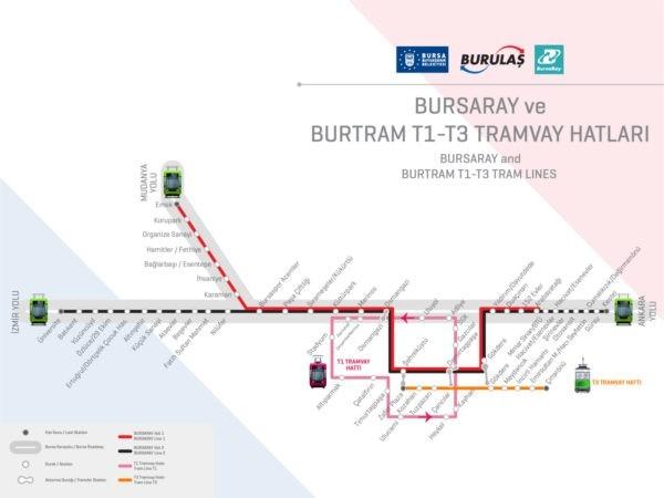 Карта метро Бурса